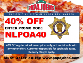 Papa Johns Pizza Fundraiser